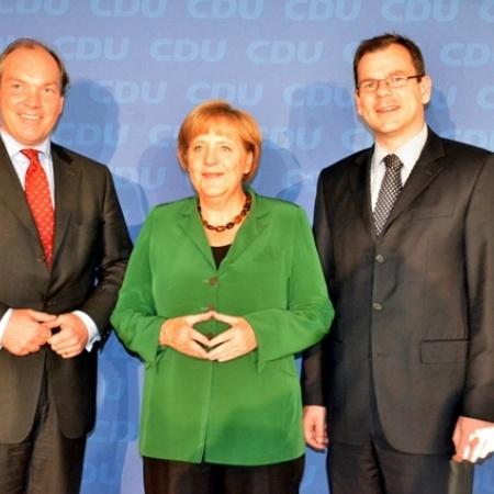 Dr. Murmann Mdb, Bundeskanzlerin und CDU Bundesvorsitzende Dr. Angela Merkel und Oberbuergermeister Dr. Tauras